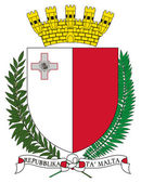 Malta Coat of Arms — Stock Photo