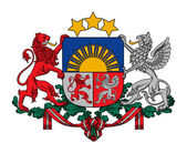Latvia Coat of Arms — Foto Stock
