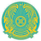 Kazakstan vapensköld — Stockfoto