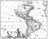 Map of the Americas — 图库照片