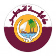 Qatar Coat of Arms — Stock Photo