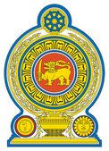 Sri Lanka coat of Arms — Stock Photo