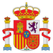 Spain coat of arms — 图库照片
