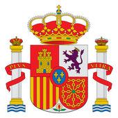 Spanien vapensköld — Stockfoto