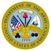 Birleşik devletler ordusu mühür — Stok fotoğraf