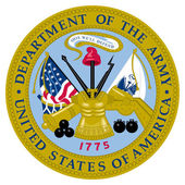 United States Army Seal — Stock fotografie