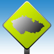 Royalty-Free Stock Photo: Czech Republic road sign