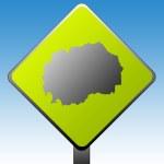 Macedonia road sign — Stock Photo #3897986
