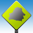 Belarus road sign — Stock Photo