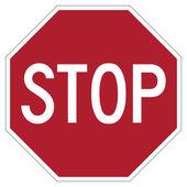 Panneau d'arrêt rouge — Photo