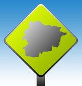 Cartello stradale di andorra — Foto Stock