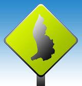 Liechtenstein road sign — Stock Photo