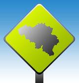 Belgium road sign — Stock Photo