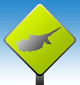 Cyprus road sign — Stock Photo