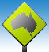 Cartello stradale australia — Foto Stock