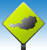 Austria road sign — Stock Photo