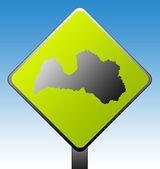 Latvia road sign — Stock Photo
