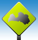 Latvia road sign — Stock Photo