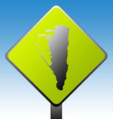 Gibraltar road sign — Stock Photo