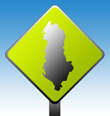 Albania road sign — Stock Photo
