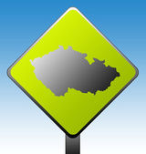 Czech Republic road sign — Stock Photo