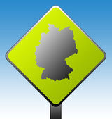 Germany road sign — Stock Photo