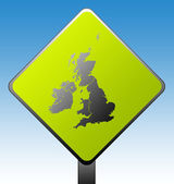 United Kingdom road sign — Stock Photo