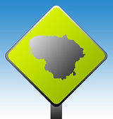 Lithuania road sign — Stock Photo