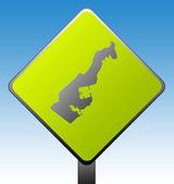 Monaco road sign — Stock Photo