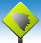 Bosnia and Herzegovina road sign — Stock Photo