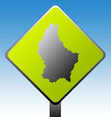 Luxembourg road sign — Stock Photo