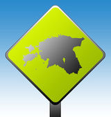 Estonia road sign — Stock Photo