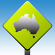 Australia road sign — Stockfoto