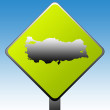 Turkey map road sign — Stock Photo