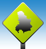 Serbia and Montenegro road sign — Stock Photo