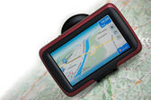 GPS navigation with map — Stock Photo