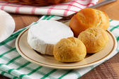 Homemade buns with cheese — Stock Photo