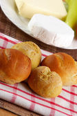Homemade buns with decoration — Stock Photo