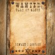Vintage wanted poster — Photo