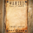 Vintage wanted poster — Stock Photo
