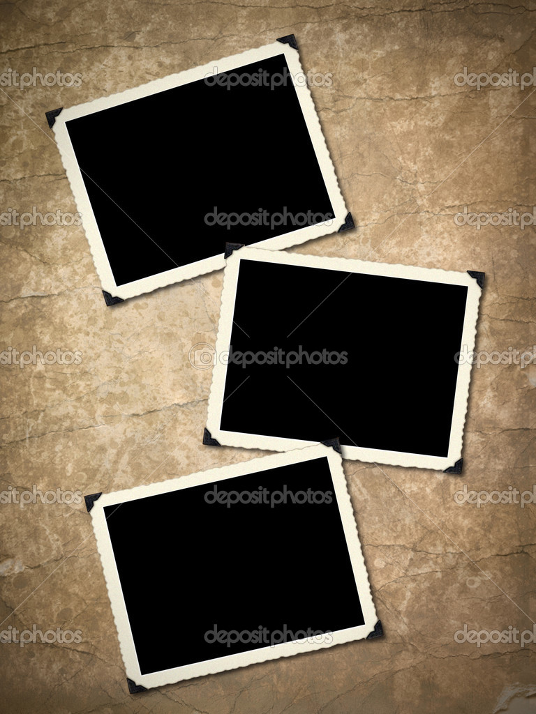 Photo frameworks on background image with interesting texture old paper. — Stockfoto #2893561