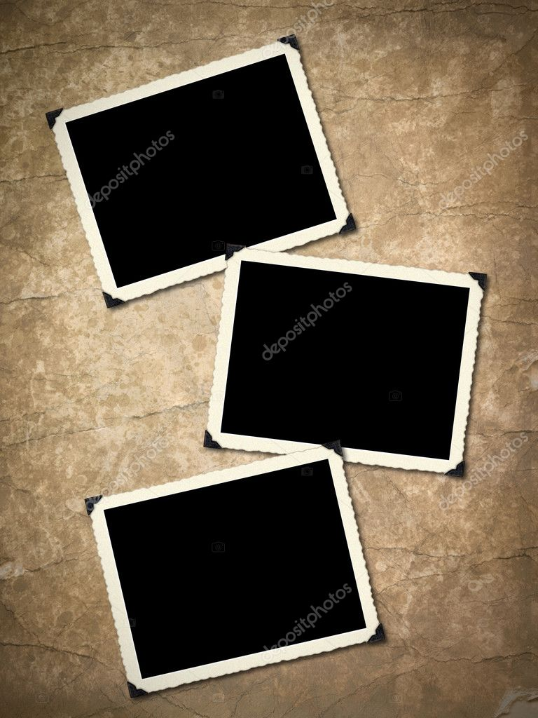 Photo frameworks on background image with interesting texture old paper. — Stock Photo #2893561