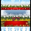 Six Christmas banners 14 — Stock Photo