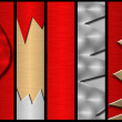 Metal banners - Foto Stock