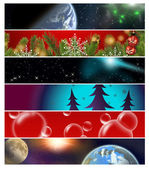 Six different banners 13 — Stock Photo