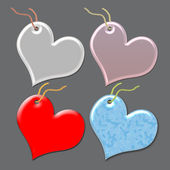 Gift tags in the form of heart. — Stock Photo