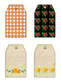 Bloemengift tags — Stockfoto