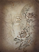 Victorian old wallpaper — Stock Photo