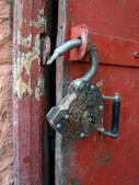 O cadeado aberto — Foto Stock