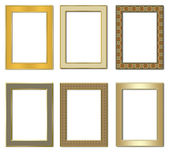 Collection metal photo frameworks 2. — Stock Photo